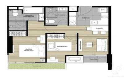 BA-C254-2bdr-1, 2 bedroom 50 Sq.m. -Thonglor Soi 10