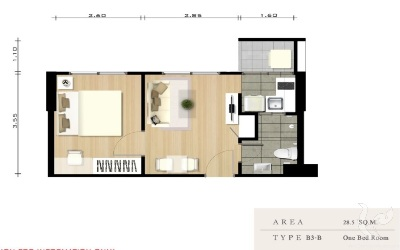 pre-sale 1 Bdr. condo 28.5 sqm.- Sukhumvit 22