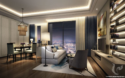 New Project! High rise !! Luxury 1 Bedrooms For Sale -BTS Phrom Phong (100 m.)