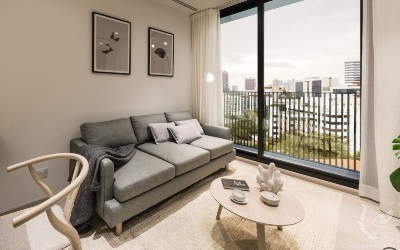 New Project ,Low Rise!!! Contemporary 1 Bedroom For Sale -BTS Ekkamai (350 m.)