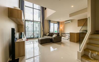 Duplex unit for rent at Asoke. Affordable price