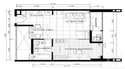 BA-C94-1bdr-1, 1 bdr Condominium Bangkok - Phrom Phong