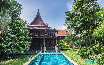 Exotic 5 Bedroom Traditional Thai House for Rent in Sukhumvit Area