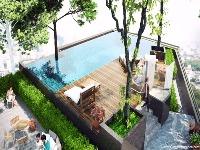 Piscine et terrasse en toiture