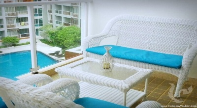 HU-C6-2bdr-3, Condominium decorated in modern tropical style in harmony with natural surrounding