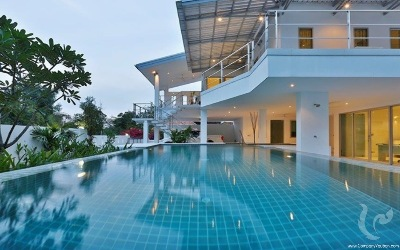 HU-V125-3bdr-1, Luxury pool villa with modern style in Hua Hin center