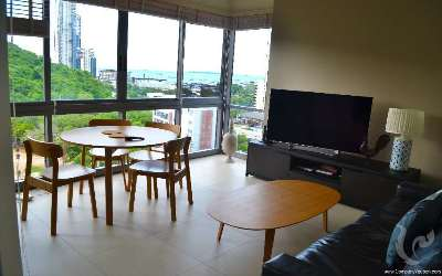 PA-C161-2bdr-1, PRICE REDUCED - two bedrooms with an amazing sea view on Pattaya Bay