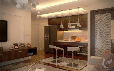Bel appartement de deux chambres dans un quartier calme