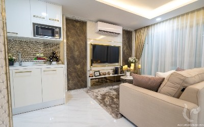 NEW: fully furnished two-bedroom apartment in a new project in Jomtien