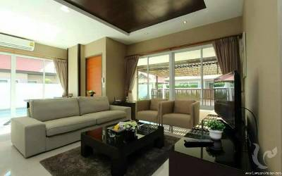 PA-V19-3bdr-4, Exclusive villas pool residence near Jomtien