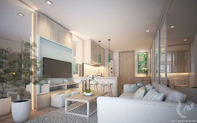PH-C150-1bdr-1, One bedroom modern tropical condominium in Kamala, Phuket