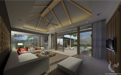 Luxueuses villa de style Balinais à Laguna