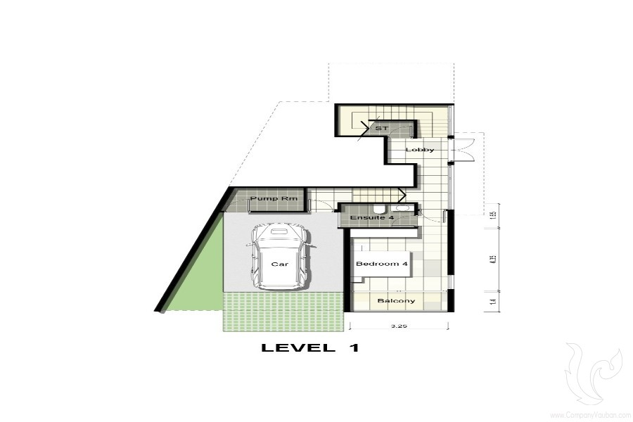 Villa Plan Level 1