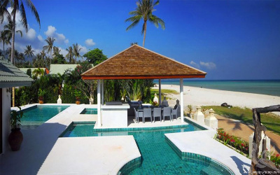 Stunning modern beachfront villa in Hua Thanon 5 min to Lamai
