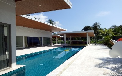 NEW 4 bdr villa 400m to the beach, 12 min to Lamai