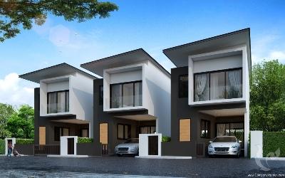 Villa moderne de deux chambres avec espace communautaire unique